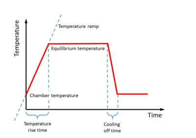 Theoretical temperature time profile